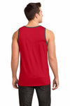 District DT1500 Red/Grey Cotton Ringer Tank Top Back