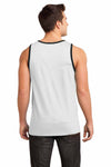 District DT1500 White/Black Cotton Ringer Tank Top Back