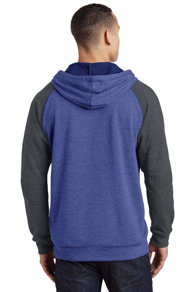 District DT196 Heather Royal Blue/Grey  Back