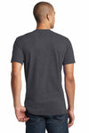 District DT5000 Heather Charcoal Grey The Concert Cotton Short Sleeve Crewneck T-Shirt Back
