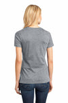 District DM104L Heather Steel Grey Perfect Weight Cotton Short Sleeve Crewneck T-Shirt Back