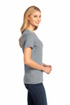 District DM104L Heather Steel Grey Perfect Weight Cotton Short Sleeve Crewneck T-Shirt Side
