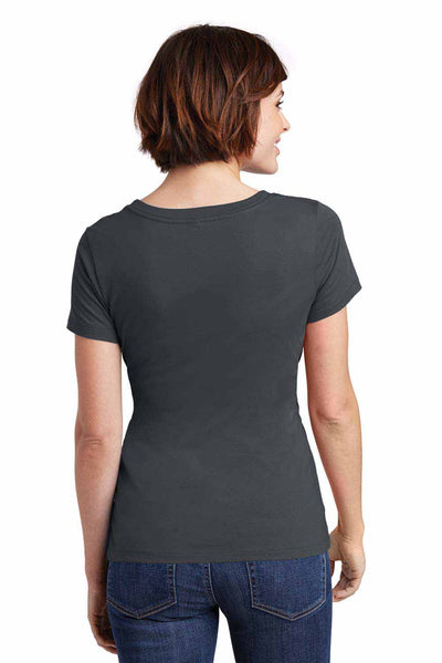 District DM106L Charcoal Grey Perfect Weight Cotton Short Sleeve T-Shirt Back