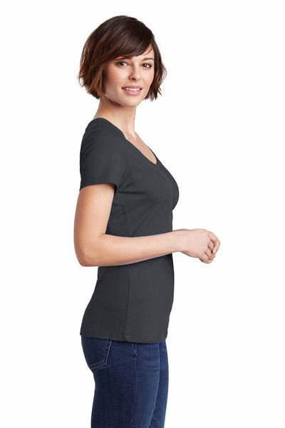 District DM106L Charcoal Grey Perfect Weight Cotton Short Sleeve T-Shirt Side