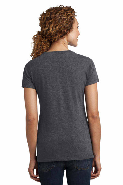 District DM108L Heather Charcoal Grey Perfect Blend Short Sleeve Crewneck T-Shirt Back