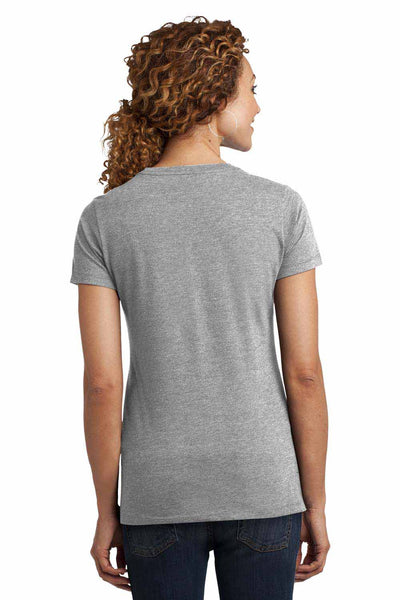 District DM108L Heather Light Grey Perfect Blend Short Sleeve Crewneck T-Shirt Back