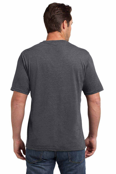 District DM108 Heather Charcoal Grey Perfect Blend Short Sleeve Crewneck T-Shirt Back