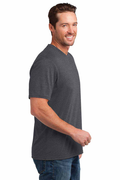 District DM108 Heather Charcoal Grey Perfect Blend Short Sleeve Crewneck T-Shirt Side