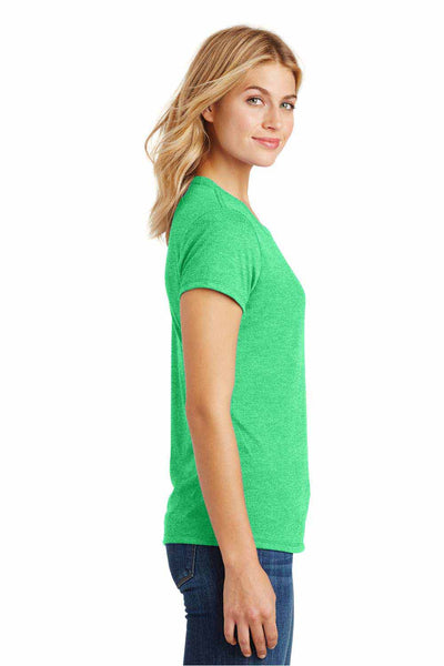 District DM130L Green Frost Perfect Triblend Short Sleeve Crewneck T-Shirt Side