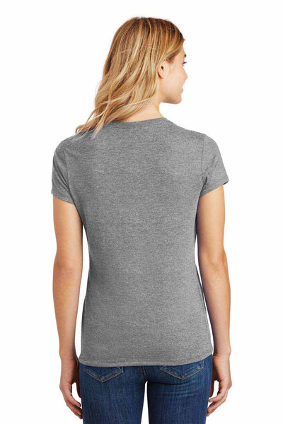 District DM130L Grey Frost Perfect Triblend Short Sleeve Crewneck T-Shirt Back
