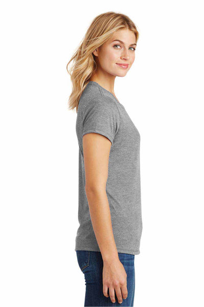 District DM130L Grey Frost Perfect Triblend Short Sleeve Crewneck T-Shirt Side