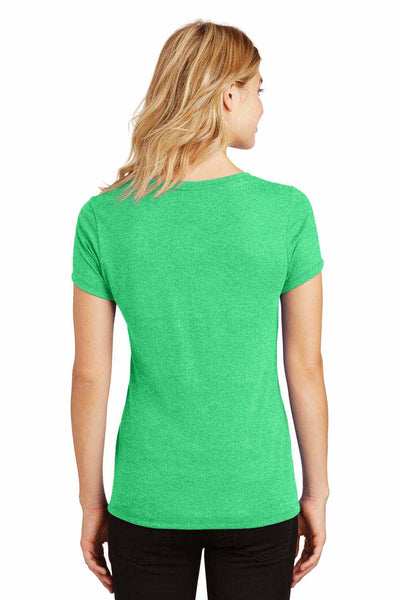District DM1350L Green Frost Perfect Triblend Short Sleeve V-Neck T-Shirt Back