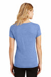 District DM1350L Maritime Blue Frost Perfect Triblend Short Sleeve V-Neck T-Shirt Back