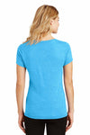 District DM1350L Turquoise Blue Frost Perfect Triblend Short Sleeve V-Neck T-Shirt Back