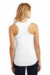District DM138L White Perfect Triblend Racerback Tank Top Back