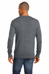 District DM315 Grey Blend Long Sleeve Cardigan Sweater Back
