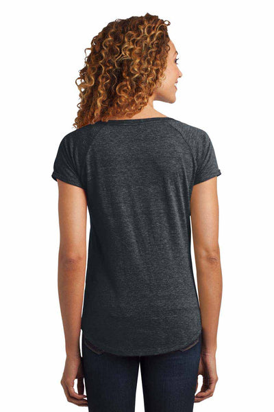 District DM443 Heather Charcoal Grey Triblend Short Sleeve T-Shirt Back