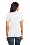 District DM450 White Cotton Slub Short Sleeve Polo Shirt Back