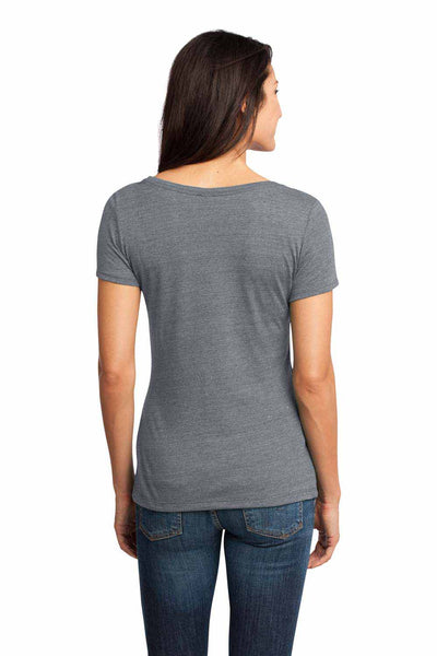 District DM471 Charcoal Grey Textured Triblend Short Sleeve T-Shirt Back