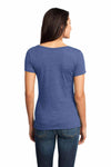 District DM471 Denim Blue Textured Triblend Short Sleeve T-Shirt Back