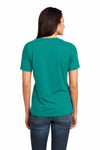 District DM480 Jade Green Relaxed Blend Short Sleeve V-Neck T-Shirt Back