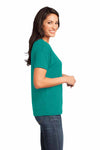 District DM480 Jade Green Relaxed Blend Short Sleeve V-Neck T-Shirt Side