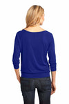 District DM482 Lapis Blue Raglan Blend 3/4 Sleeve T-Shirt Back