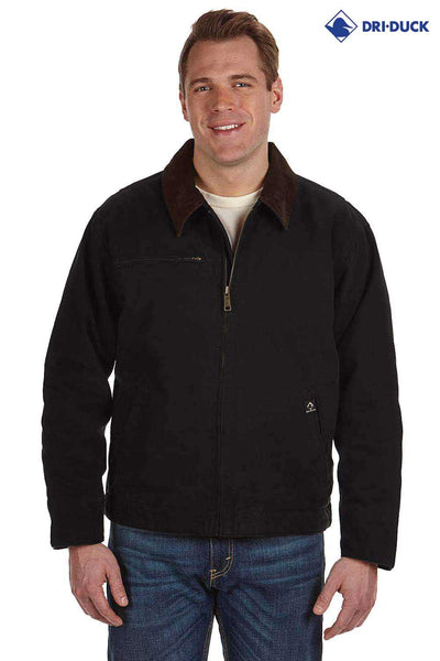 Dri Duck DD5087 Black Outlaw Cotton Work Jacket Front