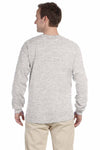 Fruit Of The Loom 4930 Ash Grey HD Cotton Long Sleeve Crewneck T-Shirt Back