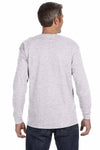 Gildan G540 Ash Grey Cotton Long Sleeve Crewneck T-Shirt Back