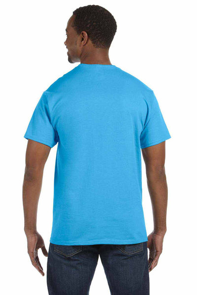 Hanes 5250T Aquatic Blue  Back