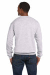 Hanes P1607 Ash Grey EcoSmart Fleece Crewneck Sweatshirt Back