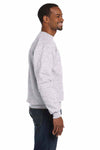 Hanes P1607 Ash Grey EcoSmart Fleece Crewneck Sweatshirt Side