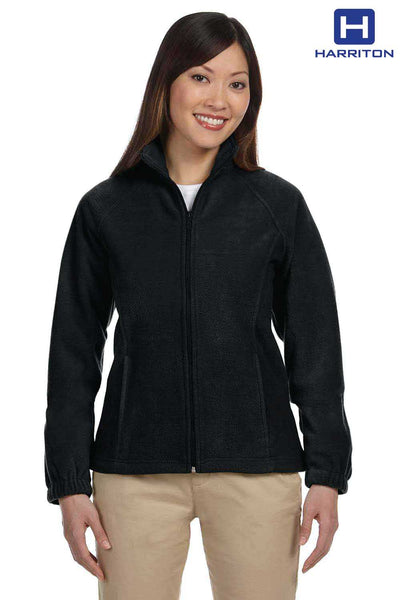 Harriton M990W Black Fleece Jacket Front