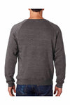 J America JA8875 Black Fleece Crewneck Sweatshirt Back