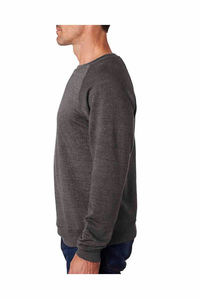 J America JA8875 Black Fleece Crewneck Sweatshirt Side