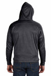 J America JA8833 Black Sport Lace Polyester Hooded Sweatshirt Hoodie Back