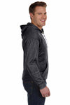 J America JA8833 Black Sport Lace Polyester Hooded Sweatshirt Hoodie Side