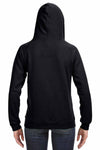 J America JA8836 Black Sydney Brushed Blend Hooded Sweatshirt Hoodie Back