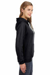 J America JA8836 Black Sydney Brushed Blend Hooded Sweatshirt Hoodie Side