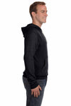 J America JA8871 Black Fleece Hooded Sweatshirt Hoodie Side