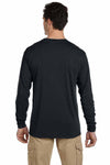 Jerzees 21ML Black Dri-Power Polyester Long Sleeve Crewneck T-Shirt Back