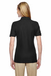 Jerzees 537WR Black Easy Care Blend Short Sleeve Polo Shirt Back