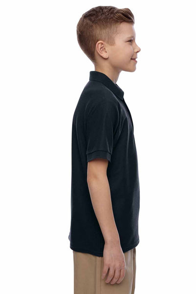 Jerzees 537YR Black Easy Care Blend Short Sleeve Polo Shirt Side