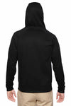 Jerzees PF93MR Black Dri-Power Polyester Hooded Sweatshirt Hoodie Back