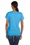 Fruit Of The Loom L3930R Aquatic Blue HD Cotton Short Sleeve Crewneck T-Shirt Back