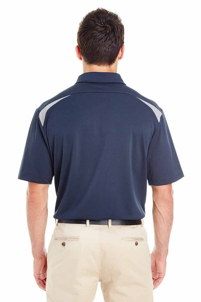 Dickies LS606 Navy Blue/Grey Performance Polyester Team Short Sleeve Polo Shirt Back