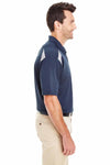 Dickies LS606 Navy Blue/Grey Performance Polyester Team Short Sleeve Polo Shirt Side