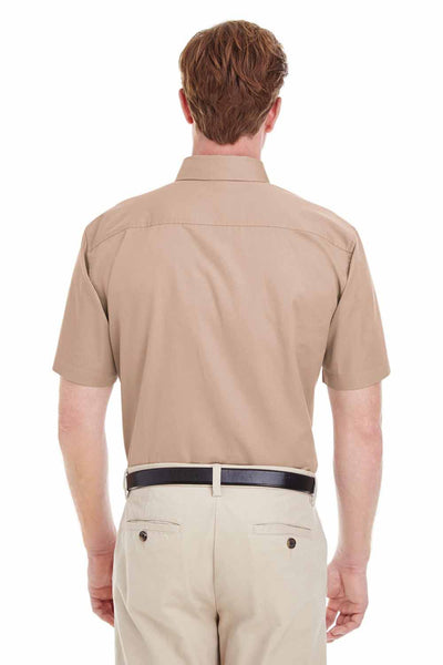 Harriton M582 Khaki Brown  Back