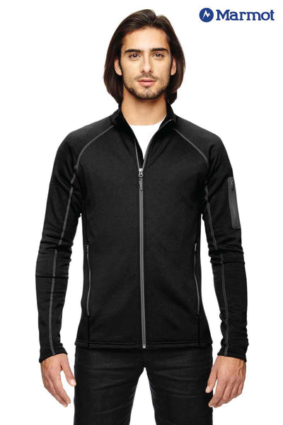 Marmot 80840 Black Stretch Fleece Jacket Front